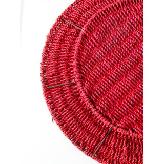 Vintage Red Woven Charger Plates - Set of 5 Preview