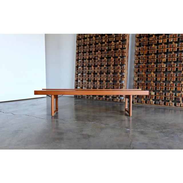 """1960s Vintage Teak """"Krobo'' Bench by Torbjørn Afdal for Bruksbo For Sale - Image 11 of 11"""