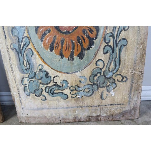 Pair of 19th Century Painted Italian Panels For Sale - Image 9 of 10