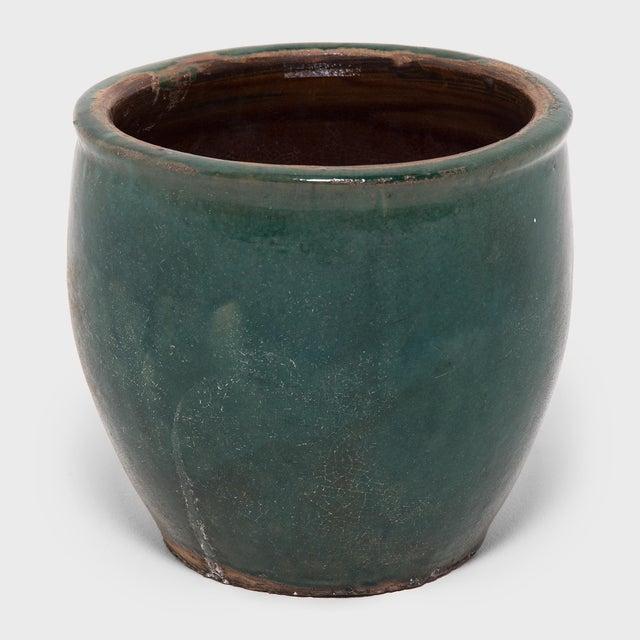 Green Glazed Pickling Pot For Sale - Image 4 of 4