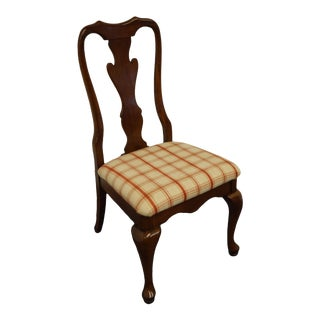 Keller Furniture Solid Cherry Traditional Queen Anne Style Side Chair For Sale