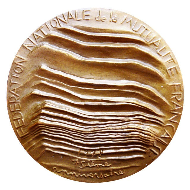 French Modernist French Bronze Medal For Sale - Image 3 of 4