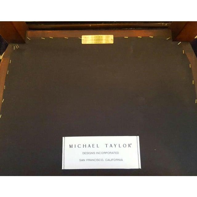 Michael Taylor Walnut Bar Stools - Set of 3 - Image 7 of 11