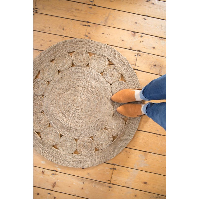 Contemporary Jute Round Gray New Carpet Collection For Sale - Image 3 of 5