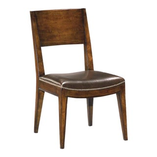 Modern Chocolate Brown Side Chair For Sale