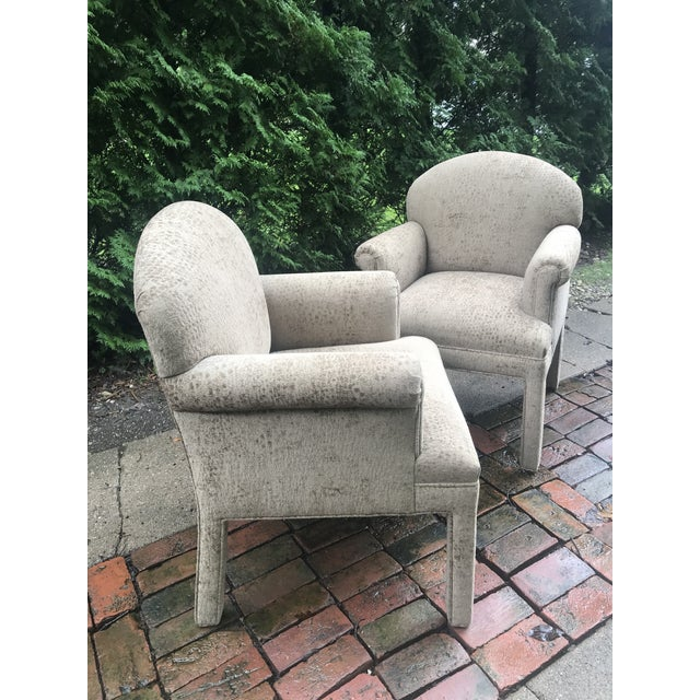 Textile Contemporary Kravet Chairs - a Pair For Sale - Image 7 of 10