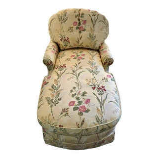 Custom Floral Chaise Lounge For Sale