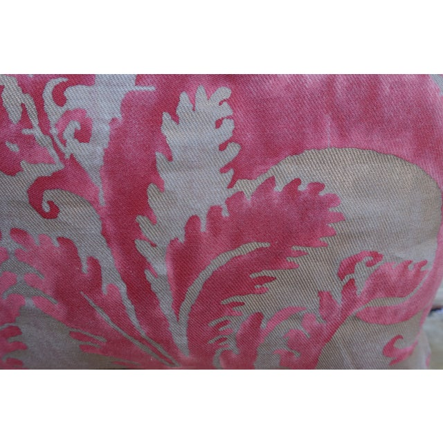 Pink & Silver/Gold Fortuny Pillow - A Pair - Image 3 of 4