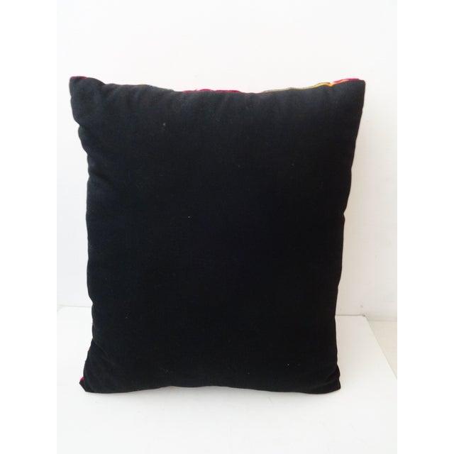 Vintage Uzbek Suzani Pillow - Image 8 of 8