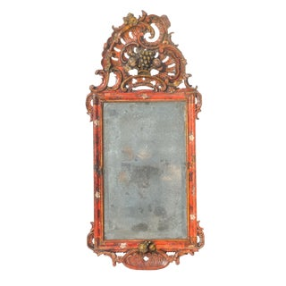 19th C French Finely Carved Mirror For Sale