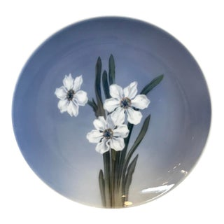Vintage Danish Daffodil Decorative Plate For Sale