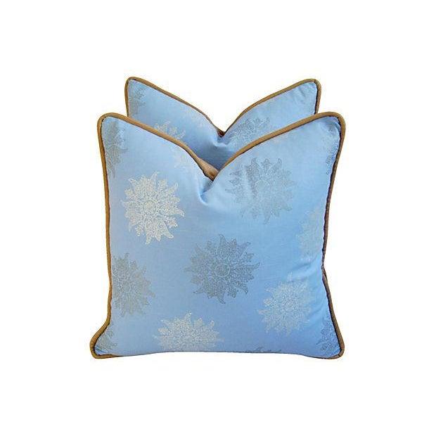Designer Iman Lamu Twilight Aegean Pillows - Pair - Image 2 of 7