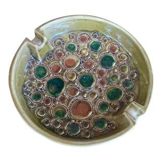 Mid-Century Italian Ceramic Ashtray by J.W.Co Pottery For Sale