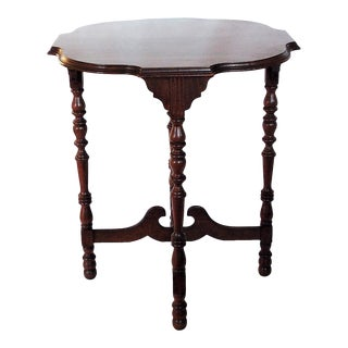 Traditional Walnut Accent Table For Sale
