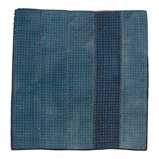Antique Japanese Sashiko Stitched Indigo Blanket
