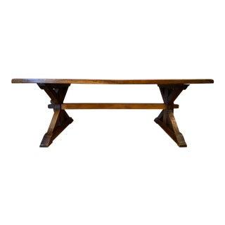 19th Century Provençal Trestle Farm Table For Sale