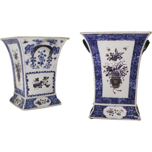 Late 18th Century Chinese Export Bough Pots - A Pair - Image 9 of 9