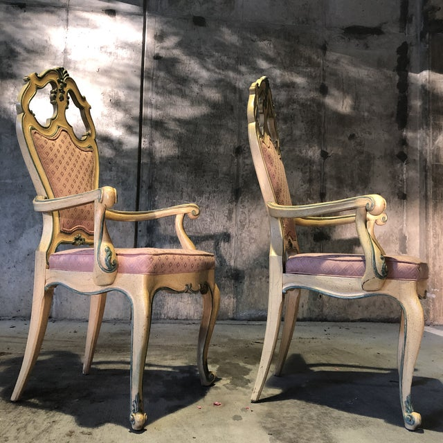 Mid 20th Century Victorian Style Era Gothic Chairs- a Pair For Sale - Image 5 of 9