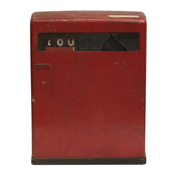Metal Red NCR Cash Register For Sale - Image 7 of 8