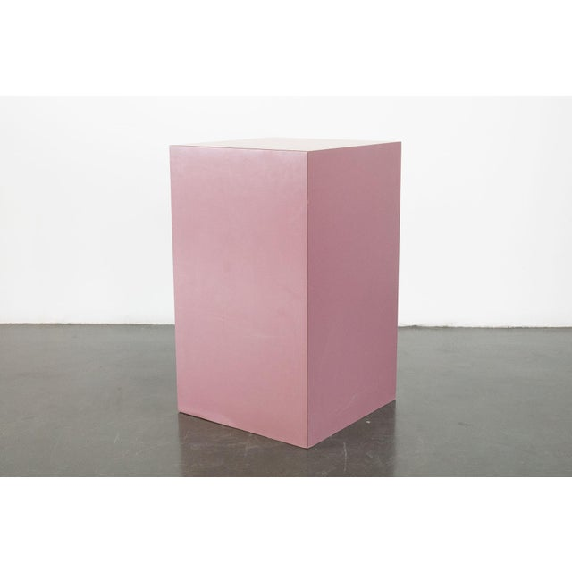 Late 20th Century Mauve Pedestal For Sale - Image 5 of 5