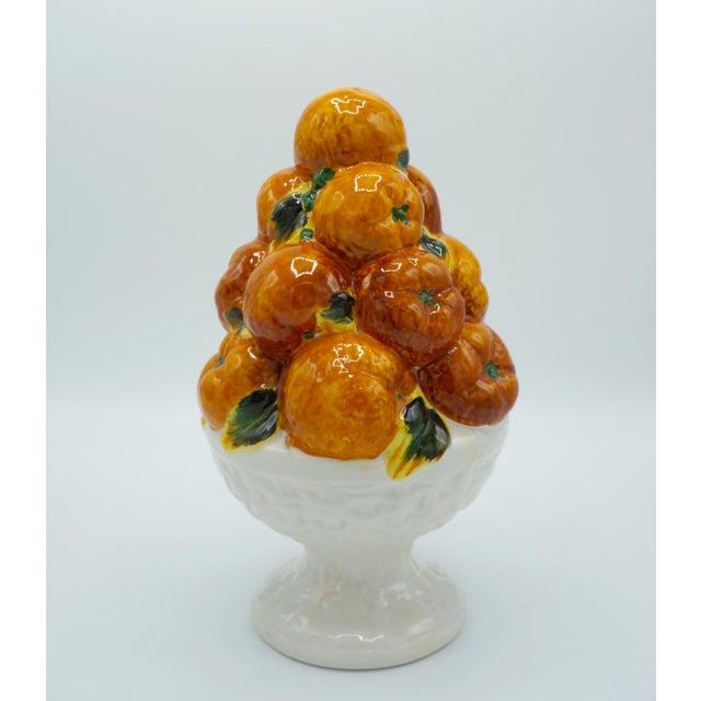 Mid 20th Century Italian Majolica Ceramic Fruit Topiary For Sale - Image 9 of 9