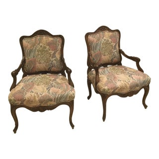 French Bergere Style Chairs - a Pair For Sale