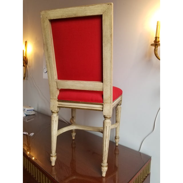 1980s French Provincial Side Chair For Sale - Image 4 of 8