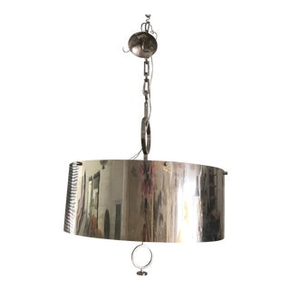 1970's Luminaire Metal Chandelier For Sale