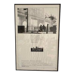 """Original Woody Allen's """"Manhattan"""" Style B Movie Poster Circa 1979 For Sale"""