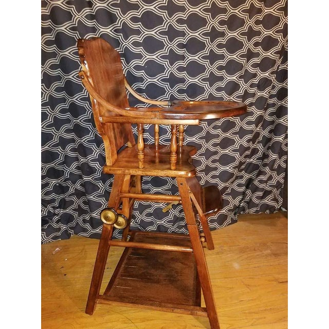 Vintage Child's High Chair and Art Desk - Image 2 of 3