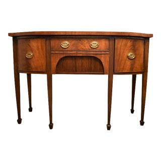 English Federal Style Buffet Sheraton Inspired Sideboard For Sale