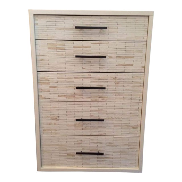 Contemporary White Oak Five Drawer Dresser - Image 1 of 6