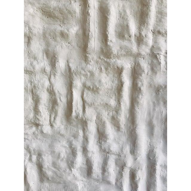 'Gridlines' Framed Minimalist Plaster Painting For Sale - Image 4 of 6