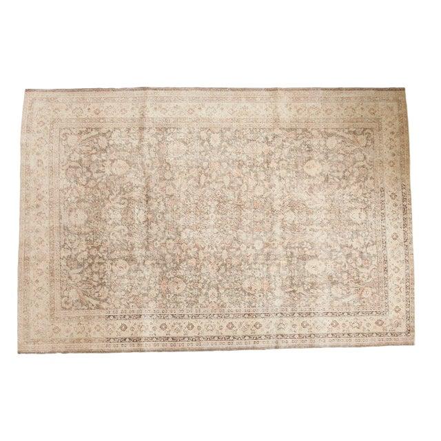 """Vintage Distressed Sivas Carpet - 7'2"""" x 10'7"""" For Sale"""