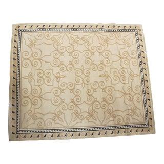 Wool Heirloom Style Rug - 9′ × 11′ For Sale