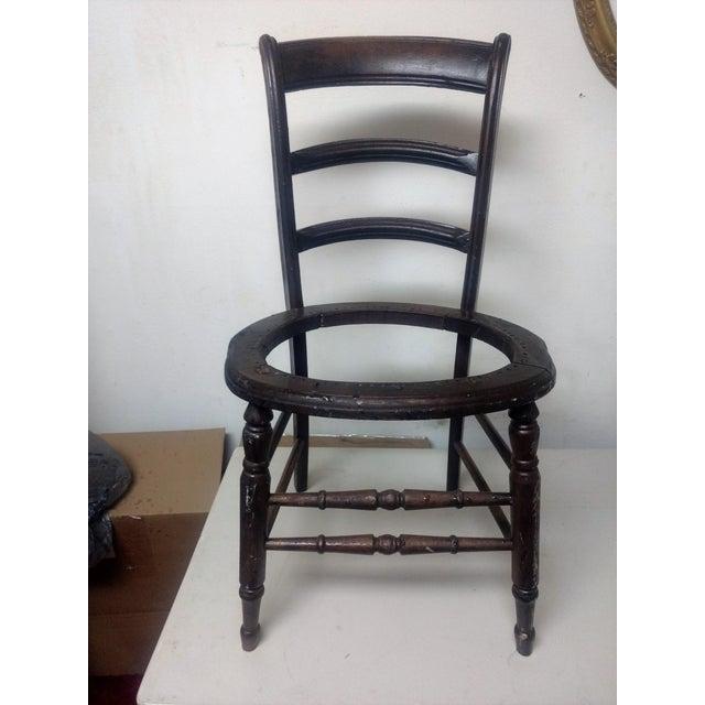 Antique Walnut Ladder Back Chair - Image 5 of 5