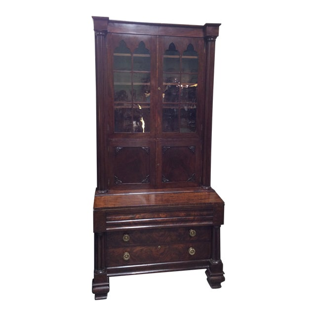 C1830 Mahogany Classical Secretary Desk For Sale