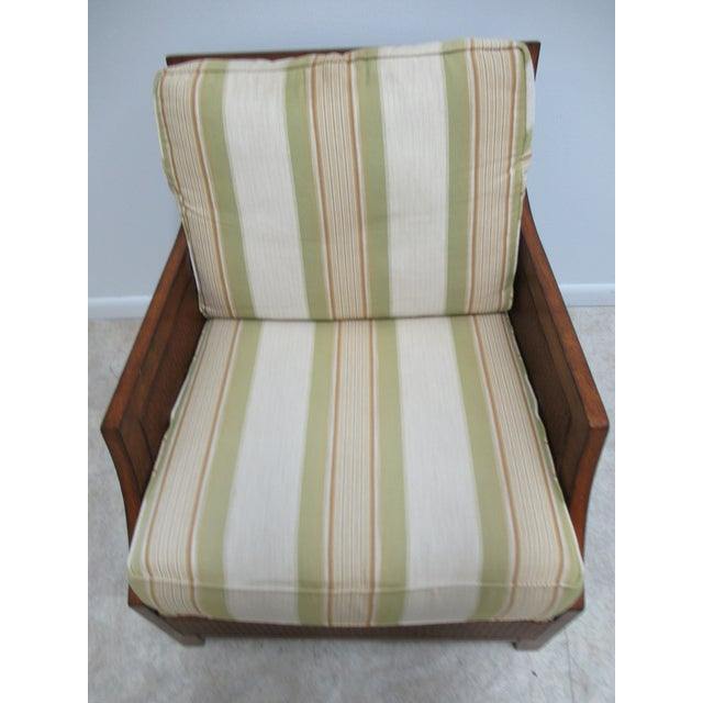 Thomasville Thomasville Tommy Bahama Style Wicker Lounge Chair For Sale - Image 4 of 13