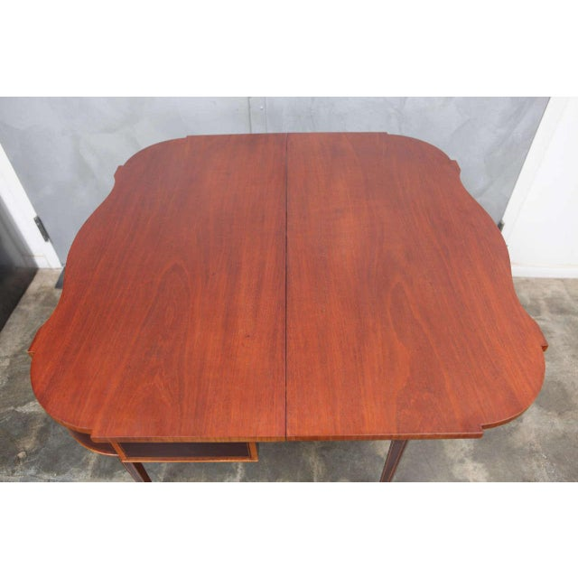 Federal Style Mahogany Game Table For Sale In Los Angeles - Image 6 of 9