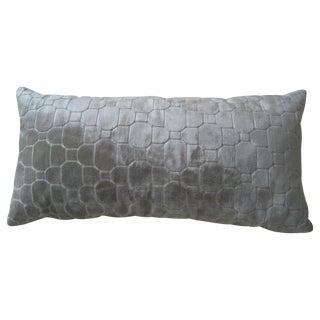 Kravet Beige Mosaic Lumbar Pillow For Sale