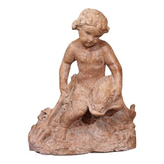 19th Century French Cherub Sculpture For Sale