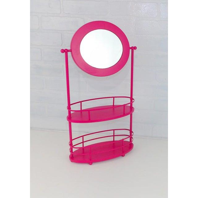Pink Vanity Mirror & Shelf For Sale - Image 10 of 10