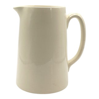 Antique 1920s English White Ironstone Pitcher For Sale