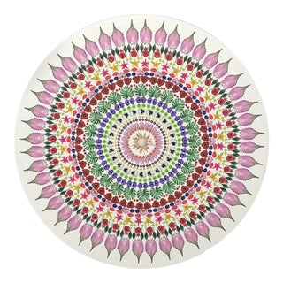 2010s Abstract Flower Mandala Print For Sale