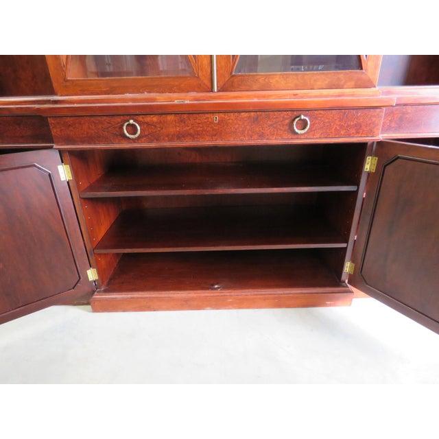 Wood Regency Style Breakfront For Sale - Image 7 of 13