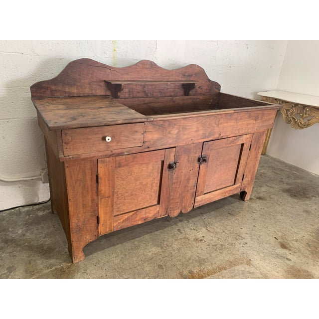 Antique Rustic Farmhouse Dry Sink For Sale - Image 9 of 9