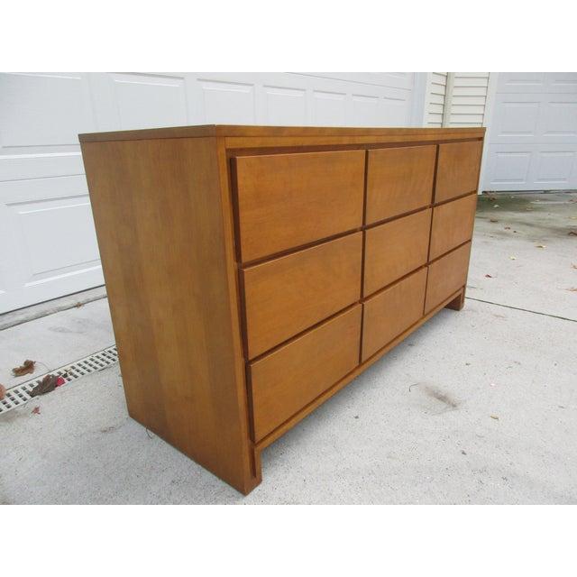 Mid-Century Modern Leslie Diamond For Conant Ball Nine Drawer Dresser For Sale - Image 3 of 10