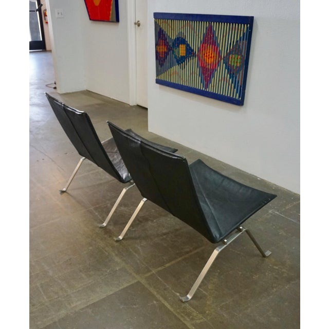 Pk 22 Lounge Chairs by Poul Kjaerholm - a Pair For Sale - Image 9 of 11