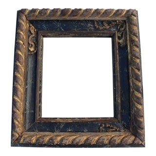 18th Century Carved Gilded and Polychrome Portuguese Baroque Frame For Sale