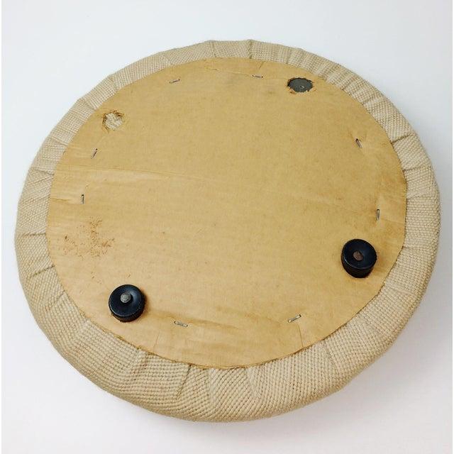 Vintage Italian Rosenthal Netter Round Wicker Ottoman - Image 8 of 10
